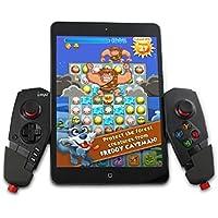 iPega スマートフォン/タブレット用Bluetoothゲームコントローラーパッド iOS/Android/Windows対応 5~10インチ対応伸縮性ホルダー