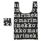 (マリメッコ) MARIMEKKO トートバッグ 041395 910/BLACK×WHITE エコバッグ 折り畳み MARILOGO/マリロゴ ポリエステル ホワイト×ブラック [並行輸入品]