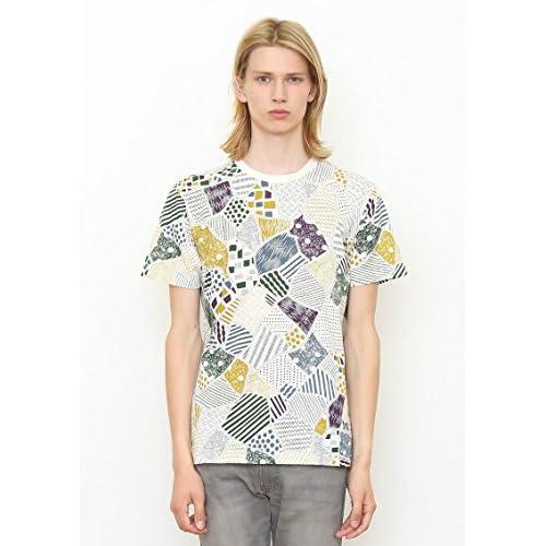 (グラニフ)graniph 総柄半袖TシャツH / エアリアルマップ ( ナチュラル ) M