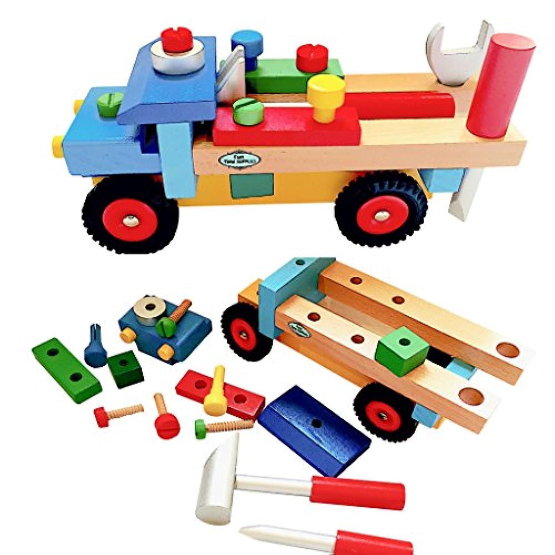 [ファンタイムサプライ]Fun Time Supplies Wooden Blocks Build N Play Truck for Toddlers LYSB017GK0EXY-TOYS [並行輸入品]