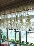 スタイルレース出窓カーテン バルーン型 トリコットカーテン一枚 腰窓サイズ