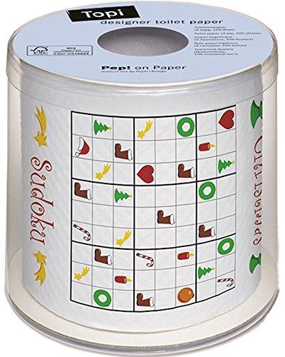 Paper+Design トイレットペーパー Xmas Sudoku 3枚重ね 200シート 00218