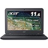 Acer ノートパソコン Chromebook 11 N7 C731-F12M 11.6型 タッチ機能なし 日本語キーボード Celeron N3060 2GB eMMC 16GB 約12時間駆動 【日本正規代理店品】 C731-F12M スティールグレイ