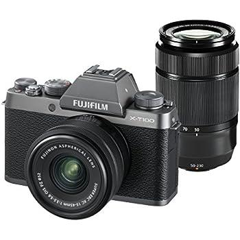 FUJIFILM ミラーレス一眼カメラ X-T100ダブルズームレンズキット ダークシルバー X-T100WZLK-DS