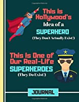 (JOURNAL): Police Officer Hero Quote Cookery Gift: Police Recipe Book for Boys, Kids, Teens, Men