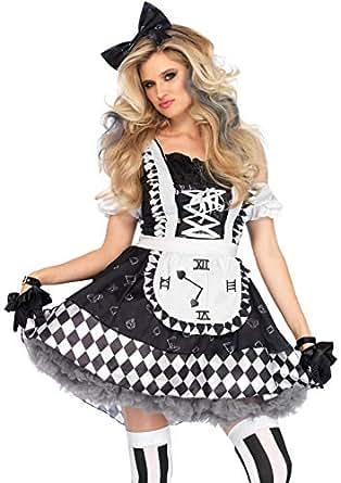 LEG AVENUE(レッグアベニュー) 2 PC. Wonderland Aliceワンダーランド アリス ブラック/ホワイト M 86665