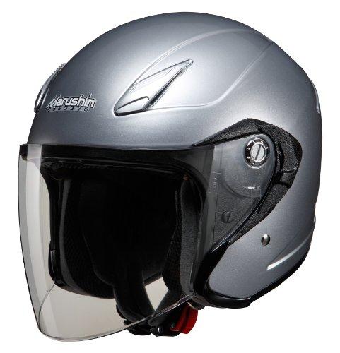 マルシン(MARUSHIN) バイクヘルメット インナーバイザー(スモーク)付き ジェット M-430 シルバー フリーサイズ(57-60cm)