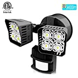 Upgraded SANSI LED Security Motion Sensor Outdoor Lights, 36W (250W Incandescent Equivalent) 3600lm, 5000K Daylight, Dusk to Dawn Waterproof Flood Light, ETL Listed, Black 141[並行輸入]