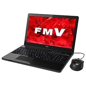 富士通 ノートパソコン FMV LIFEBOOK AH42/U シャイニーブラック(Office Home & Business Premium プラス Office 365) FMVA42UB