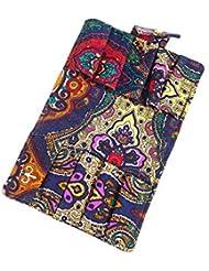 エッセンシャルオイル 香水収納バッグ 10格 財布式 折り畳み可能 携帯用 精油 香水 サンプル 保管袋 ポーチ (カラー, 15.5*12.5*1.5CM)