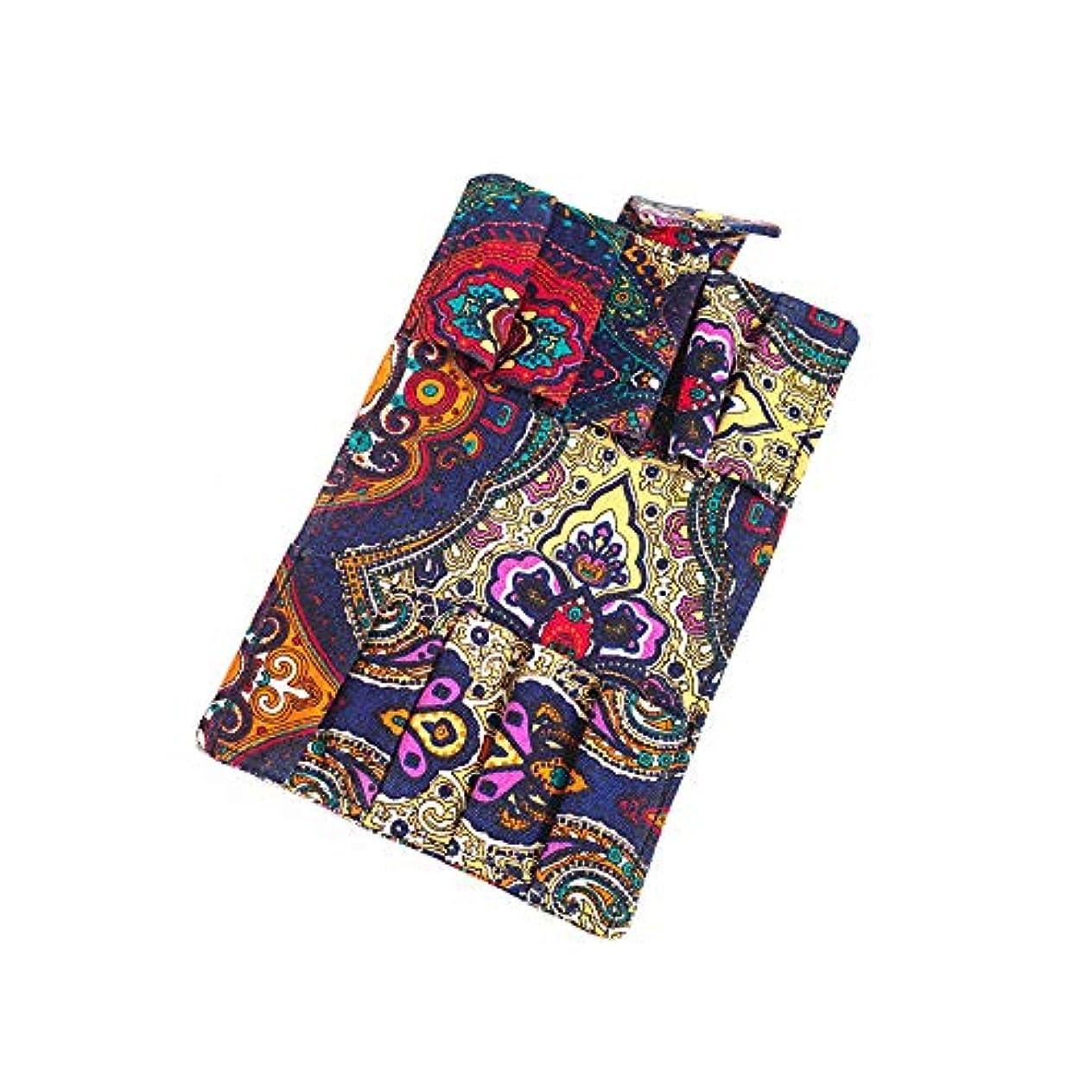 両方アラブ人ユニークなエッセンシャルオイル 香水収納バッグ 10格 財布式 折り畳み可能 携帯用 精油 香水 サンプル 保管袋 ポーチ (カラー, 15.5*12.5*1.5CM)