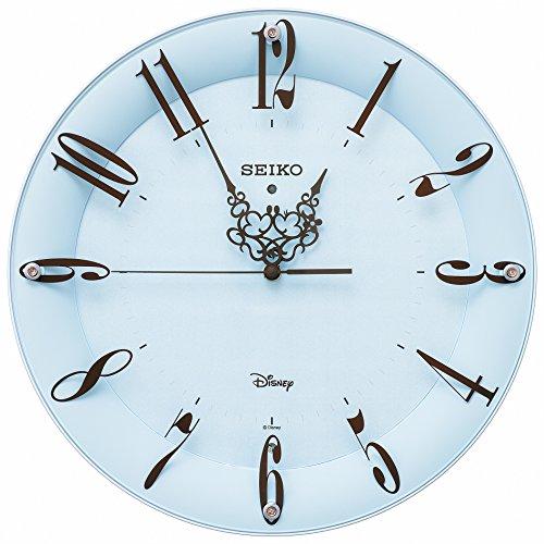 セイコー クロック 掛け時計 ミッキーマウス ミニーマウス 電波 アナログ 大人ディズニー 薄青 FS801L SEIKO