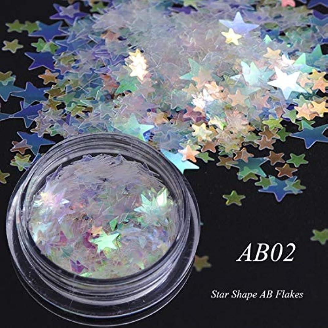 屈辱する不利益免除するビューティー&パーソナルケア 3個のカメレオンカラースパンコールネイルアートグリッターフレークUVジェル装飾ツール(AB01) ステッカー&デカール (色 : AB02)