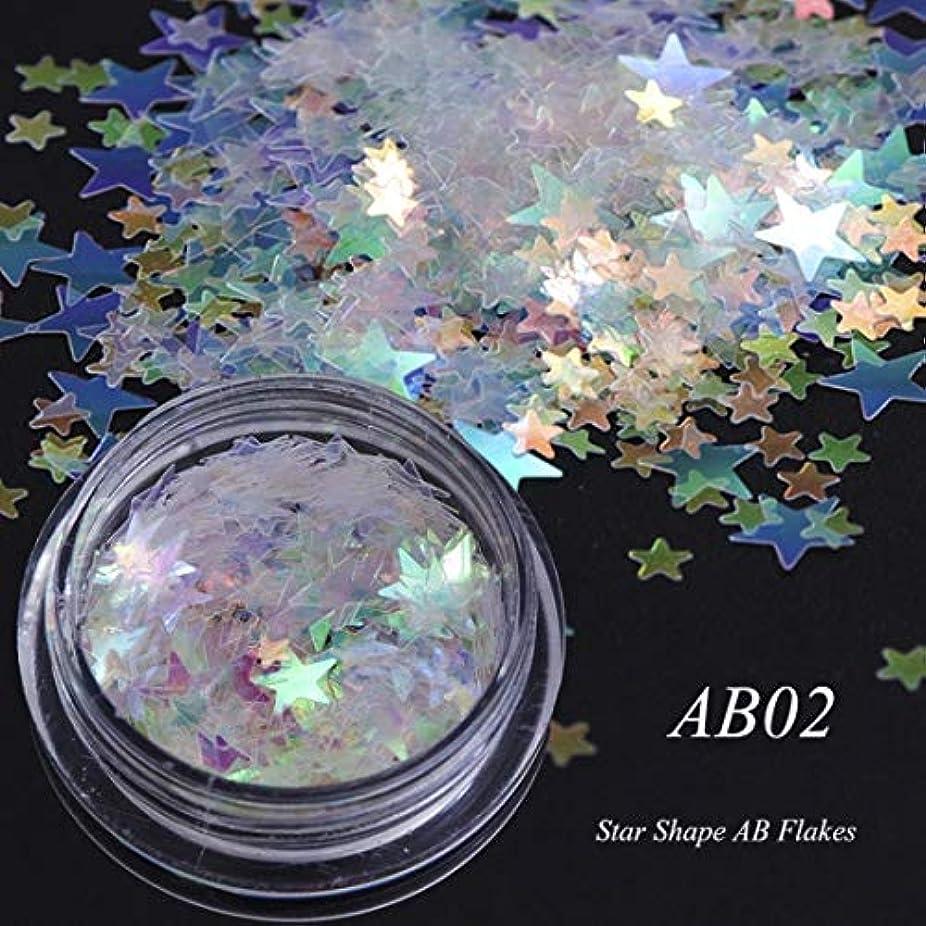 クリック他の日国ビューティー&パーソナルケア 3個のカメレオンカラースパンコールネイルアートグリッターフレークUVジェル装飾ツール(AB01) ステッカー&デカール (色 : AB02)