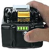 高品質 Makita マキタ 18V 3000mAh リチウムイオン 互換バッテリー BL1830B 電池残量インジケーター付き 残量検知機能 安心のサムスンセル搭載