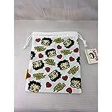 ベティちゃん Betty Boopの小物入れ BETTY巾着袋 キンチャク BB006 WHITE 総柄 ベティブープ ベティー ちゃん アメ雑 アメリカン雑貨