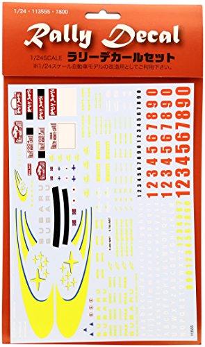 1/24 シルクスクリーン印刷デカール ラリーデカール