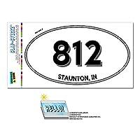812 - ストーントン, に - インディアナ - 楕円形市外局番ステッカー