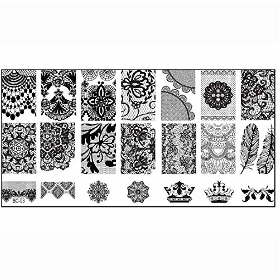 TOOGOO DIYネイルプリントイメージプレート スタンプ付き タンプアートテンプレート BC03#