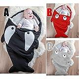 COOL ELVES ベビー用品, 赤ちゃんの寝袋,サメの寝袋,児童の春秋冬寝袋,黒色、赤色、灰色(?)