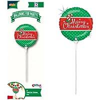 クリスマスバルーンチャーミィパック 9インチ(約23cm) キャンディーケインクリスマス(スティック付ブローイングタイプ) 1本