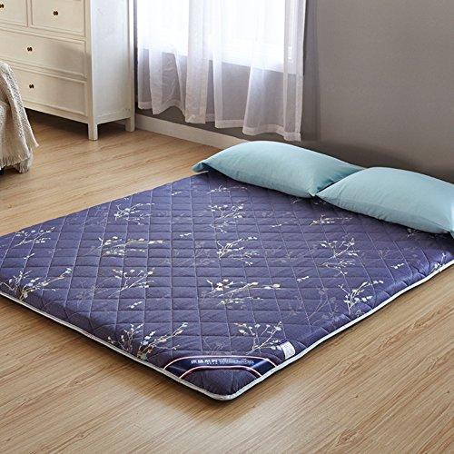 折りたたみ式のクッション マット,畳ノンスリップの床マット キルト マットレス クイーン サイズ シングル サイズ寮布団マットレス トッパー-B 150x200cm(59x79inch)
