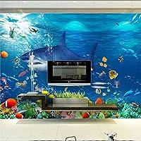 Xueshao 壁紙水中審美的な3Dテレビの背景の壁の大きな壁画壁紙壁画-120X100Cm