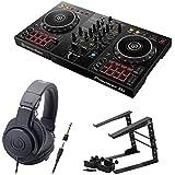 Pioneer DDJ-400 DJコントローラー ラップトップスタンド ATH-M20x ヘッドフォン 3点セット