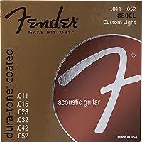 Fender Dura-Tone 880CL 80/20 Coated 11-52 アコースティックギター弦×12セット