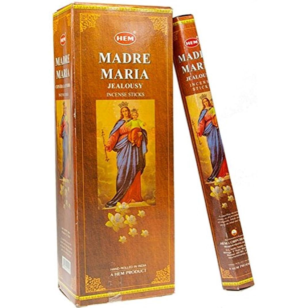 恥ずかしい年金受給者起こりやすい裾Madre Maria Incense 6 Hexagon 20のパック= 120 Sticks