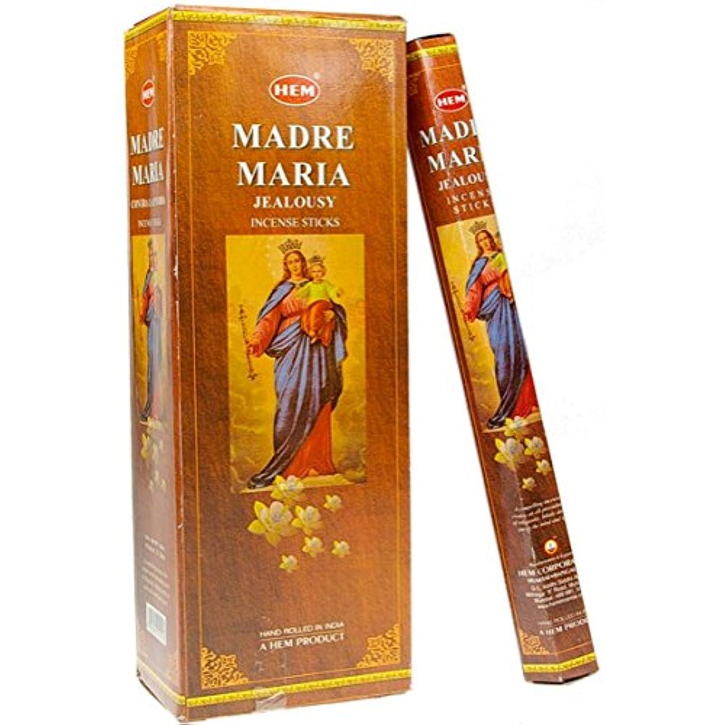 ガラスクリスチャン不良裾Madre Maria Incense 6 Hexagon 20のパック= 120 Sticks