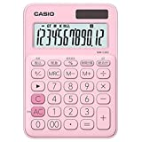 カシオ 電卓 12桁 (ペールピンク)CASIO カラフル電卓 ミニジャストタイプ MW-C20C-PK