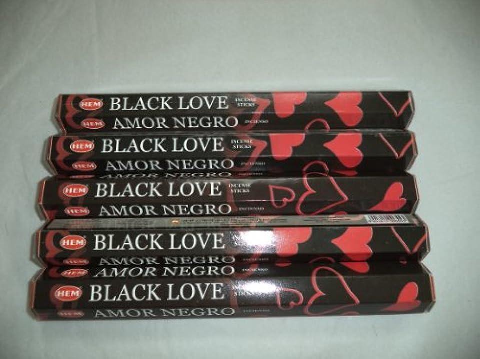 年金させる上昇裾ブラックLove 100 Incense Sticks (5 x 20スティックパック)