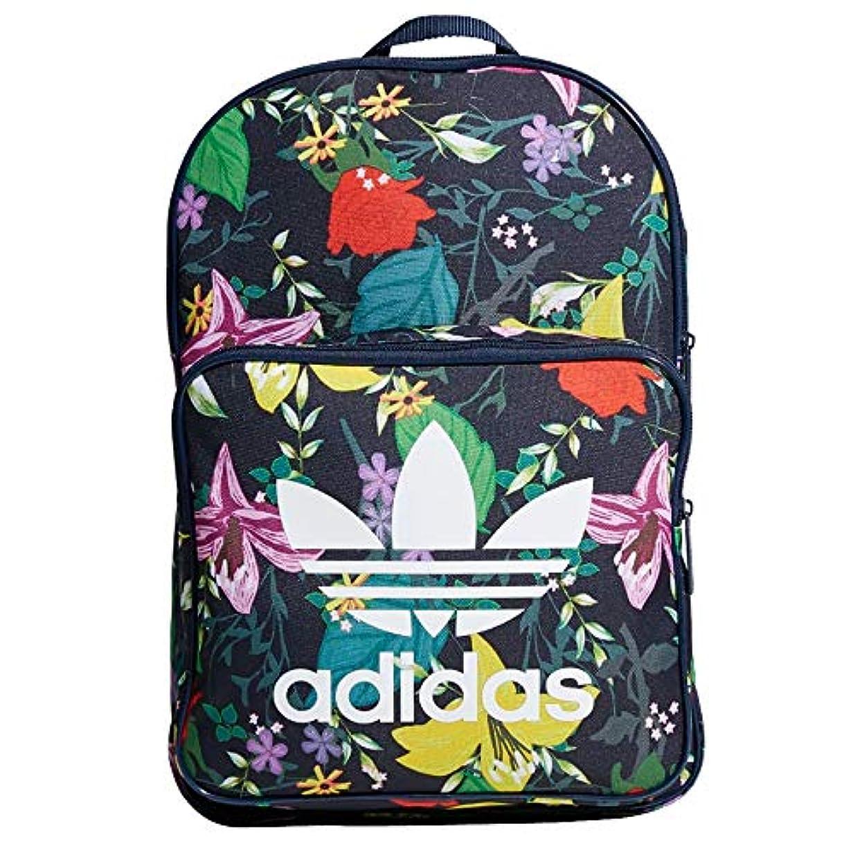 電球突撃あなたは[アディダス]Adidas Originals バックパック BACKPACK CLASSIC TREFOIL BAG ロゴ リュックサック デイパック リュック バッグ マルチカラー フラワー 花柄 メンズ レディース...