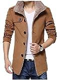 Shop358 秋冬 メンズ あったかい 防寒 保温 デザイン 大きいサイズ 男性 ジャケット コート ウール メルトン テーラード ビジネスマン ワーク 仕事用 全3色