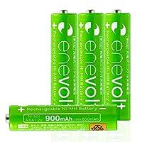 Enevolt 単4 充電池 900mAh 大容量 充電式電池 ニッケル水素電池 (繰り返し約1000回使用可能) - 単4形 4本
