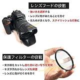 Canon キヤノン EOS Kiss X7 ダブルズームキット用 [ 互換レンズフード EW-63C ET-60 58mm フィルター 4点セット ] 画像