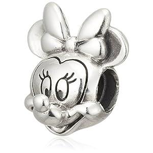 [パンドラ] PANDORA Disney, Minnie Portrait チャーム (シルバー) 正規輸入品 791587