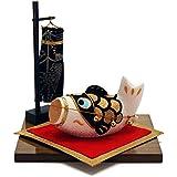 ちりめん 室内 鯉のぼり 宝来鯉飾り ポストカード特典付オリジナル五月人形 こいのぼり 幅15cm リュウコドウ