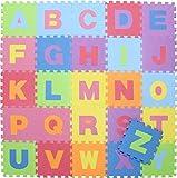 不二貿易 キッズパズルマット 26枚セット アルファベット 32×32cm EVA 10411