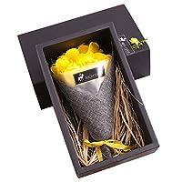 YideaHome 枯れない花 花束 LED シャボンフラワー 石鹸 ソープフラワー ギフト花束 フラワーボックス