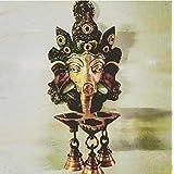 Kramah Wall Hanging Brass Ganesha Diyas