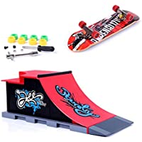 Mini Skate Park Ramp Parts for Tech Deck Fingerboard Finger Skateboard Ultimate Parks Ramp C