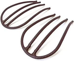 set384mbw ヘアアクセサリー 髪飾り (リトルムーン) インナーヘアアクセ Eスティックプラスショート 2本セット マットブラウン