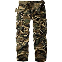 AKARMY Must Way Men's Cotton Casual Military Army Cargo Camo Combat Work Pants with 8 Pocket