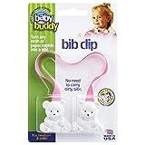 Baby Buddy(ベビーバディ) Baby Buddy ベビー バディ Bib Clip ホワイトベア マルチ クリップ(ダブル) 【アメリカ製】 Pink ピンク