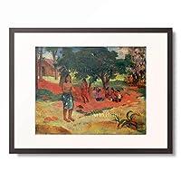 ポール・ゴーギャン Eugene Henri Paul Gauguin 「Parau parau (II) 」 額装アート作品