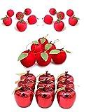 (コズミックイブ)cosmic eve S13 りんご 林檎 アップル apple オーナメント フルーツ クリスマス オーナメント クリスマス ツリー かざり 飾り アンティーク 調 シャビー オシャレ クリスマスツリー S13 (赤りんごセット)