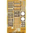 1/24 1/25 1960s 70s 80s クラシックビークル対応 コントロールパネルディテールアップエッチングセット PGX149