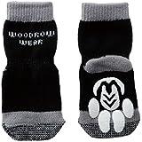 犬用靴下 Power Paws Advanced Reinforced Toe (パワー パウズ) XS ブラック&グレー 4個入り [並行輸入品]